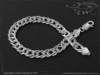 Twin-Curb Chain bracelet B8.0L22