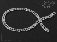 Twin-Curb Chain bracelet B4.5L23