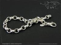 Silberkette Erbsenkette Armband B7.0L17
